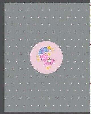 Stoff Jersey Bedruckt Glücksbärchen Glücksbärchi Panel Baumwolle rosa bunt