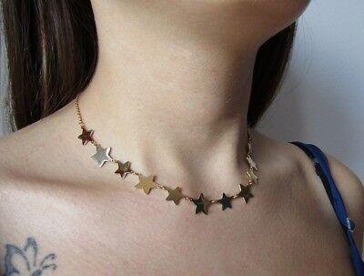 Collana con 12 stelle in acciaio 316L - Oro/Argento Moda Novità 3
