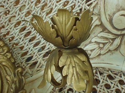 Beautiful French Medallion Acanthus Leaf Sconces for Candles *ROMANTIC* 3