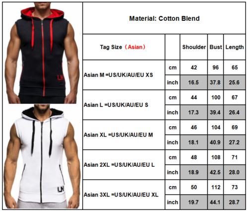 5 von 12 Herren Ärmellos Kapuzenpullover Sweatshirt Weste Sweatjacke Sport  Muskel T Shirt 5294d137a2