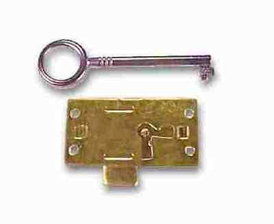 Brass Plated Lockset Includes Surface Mount Lock W/2 Keys, K41-L6 2