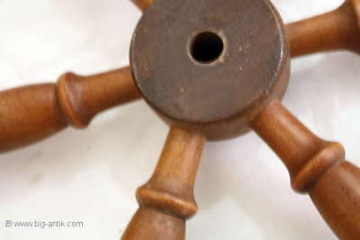 Holzrad für Spinnrad Rad Holzarbeiten  /Old wooden wheel for spinning wheel 8