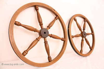Holzrad für Spinnrad Rad Holzarbeiten  /Old wooden wheel for spinning wheel 4