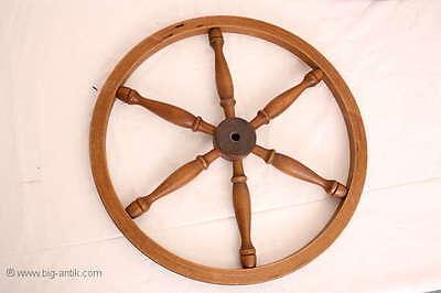 Holzrad für Spinnrad Rad Holzarbeiten  /Old wooden wheel for spinning wheel 2