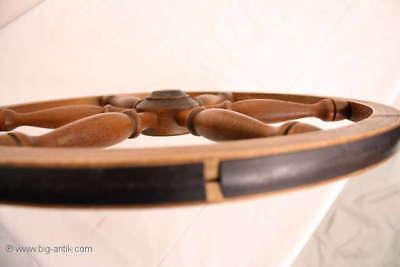 Holzrad für Spinnrad Rad Holzarbeiten  /Old wooden wheel for spinning wheel 6