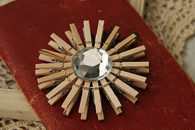 100x25mm MINI WOOD WOODEN PEGS NATURAL CRAFT WEDDING CLOTHES PIN LINE PHOTO BABY 4