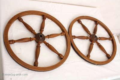 Holzrad für Spinnrad Rad Holzarbeiten  /Old wooden wheel for spinning wheel 12