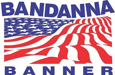 "34"" x 12yd Bandanna Banner roll for sign vinyl grommet hem 14oz continuous 3"