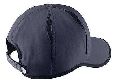 61775524152 ... New Nike Feather Light Cap Hat Dri Fit Run Tennis 595510-451 Obsidian  Blue (