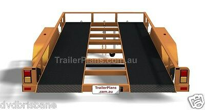 Trailer Plans - TILT FLATBED CAR TRAILER PLANS (14x6ft) - 2500kg - PLANS ON USB 10