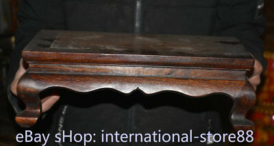 """14.4"""" Old Chinese Dynasty Huanghuali Wood Inlay Shell Fish Table Desk furniture 6"""