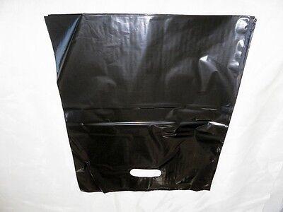 50 12x15 Glossy Black Low-Density Plastic Merchandise Bags W\Handles Retail Bags 3