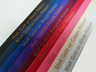 15mm HIGH QUALITY PERSONALISED RIBBON BIRTHDAY, XMAS, EASTER, CHRISTENING & MORE 4