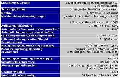 Testeur/mesureur Mesure Oxygene Eau & Air Ph Redox  Sa2 3