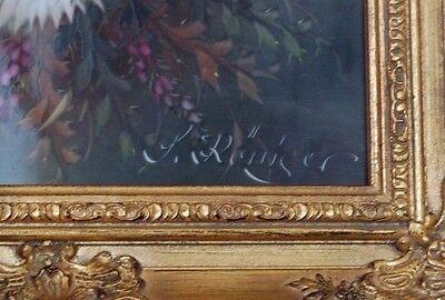 2 Von 6 Porzellangemälde Signiert S. Röniger Rahme Porzellan Gemälde  Handgemalt