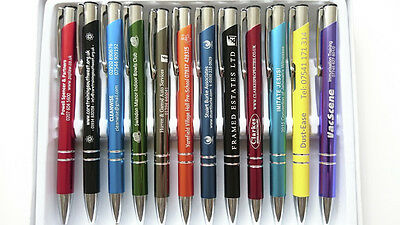 1/50/100/250/500 Personalised Engraved Metal Pens Wholesale Promotional Pen 2