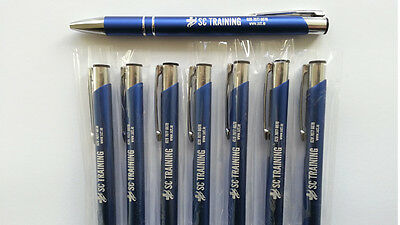 Personalised Laser Engraved Metal Ballpoint Pen 22 colours PROMOTIONAL or GIFT