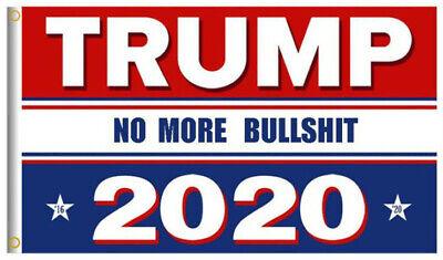 3x5 Ft Trump 2020 Keep / Make America Great President MAGA No More BS Train Flag 6