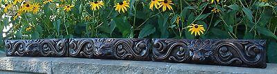 19C English Salvage Set 3 Carved Gothic Oak Griffin/Gargoyle Drawer-Front Panels 4