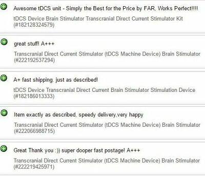 tDCS Device Transcranial Direct Current Brain Stimulator Stimulation Unit Kit 3