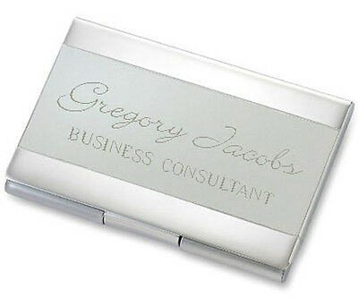 Personalized Satin Striped Business Card Credit Card Holder Custom