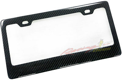 2pcs Real Carbon Fiber License Plate Cover Frame, fit Canada, USA License plate 2