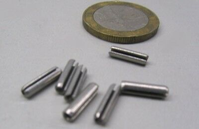 """Zinc Plate Steel Slotted Roll Spring Pin, 3/32"""" Dia x 3/8"""" Length,  500 pcs 8"""