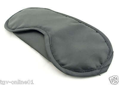 Travel Eye Mask, Sleep Sleeping Cover Rest Eyepatch Blindfold (Black) New 3