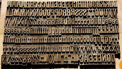 13 mm Prägeschrift Messingschrift Buchbinder Messing Vergoldepresse Buchbinden 2