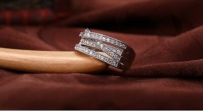 d77269265 ... Genuine Sterling Silver 925 Entwining Entwined Russian Wedding Ring Size  56 Sale 2