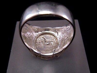 Amazing Roman Style Sterling Silver Ring, Hadrian Denarius!!! 9