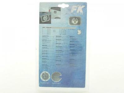 Tankdeckelblende Fuel Cap ALU Look Abdeckung * ca. Ø 121 FK-Automotive universal