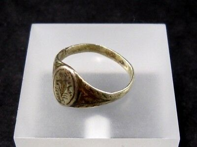 OLD VINTAGE ANTIQUE SILVER RING, TOP DECORATION from Early 20th. Century!!! 6