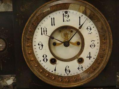 Antique 19th C. Seth Thomas Victorian Marble Mantel Clock 2