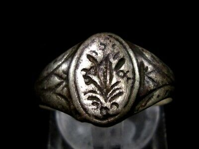 OLD VINTAGE ANTIQUE SILVER RING, TOP DECORATION from Early 20th. Century!!! 5