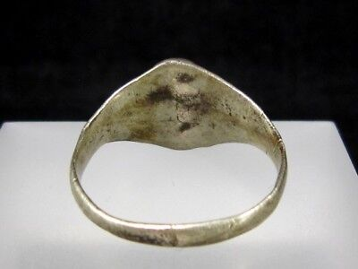 OLD VINTAGE ANTIQUE SILVER RING, TOP DECORATION from Early 20th. Century!!! 7