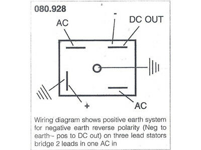 wiring diagram, charging triumph rectifier  bsa, norton, lucas   solid  state  99-9882