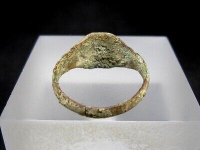 NICE WEDDING ANTIQUE BRONZE RING  FROM 19th.–20th. CENTURY, *O* LETTER!!! 6
