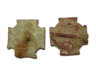 LOT of 2 pcs. OUTSTANDING POST MEDIEVAL ORTHODOX CROSS APPLIQUES, 1800's !!!