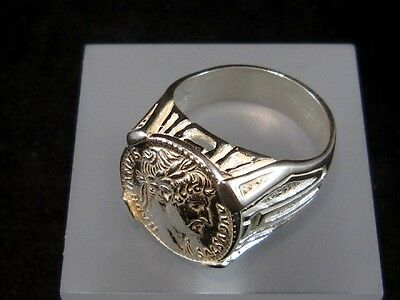 Choice Roman Style Sterling Silver Ring, Hadrian Coin!!! 7