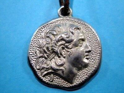 Beautiful Vintage Medallion Pendant Depicting Alexander The Great Portrait! 2