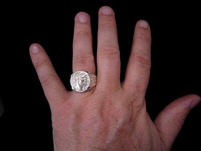 Amazing Roman Style Sterling Silver Ring, Hadrian Denarius!!! 11