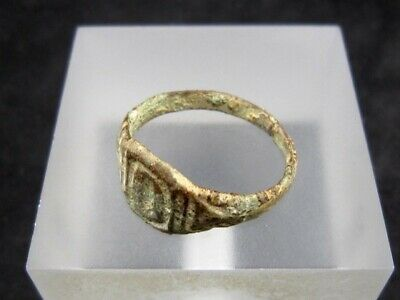 NICE WEDDING ANTIQUE BRONZE RING  FROM 19th.–20th. CENTURY, *O* LETTER!!! 5
