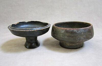 Group of FOUR ANCIENT BLACK-GLAZED VESSELS, ATTIC & SOUTH ITALIAN, c. 5-400 B.C. 5