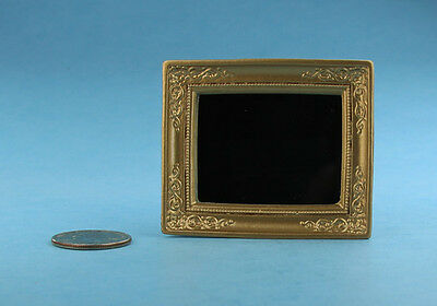 1:12 Dollhouse Miniature Decorative Antique Brass Framed Mirror #SD1835