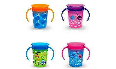 Munchkin Miracle Trainer Cup Decor 360 Sippy Cup Anti Spill Baby Cup New 2019 9