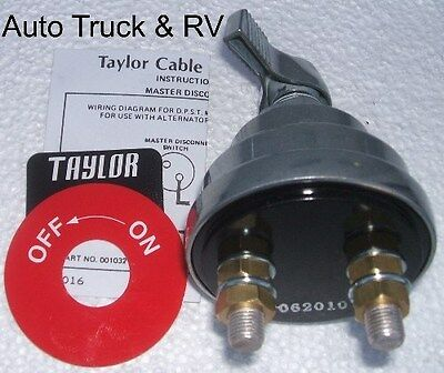 BATTERY MASTER DISCONNECT Kill Switch Cut off NHRA shut down 1032 Taylor on