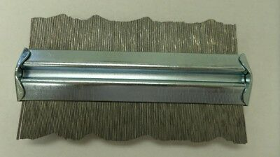 "Metal Contour Gauge Steel 6"" Angle Shape Duplicator Duplicating Device NEW"