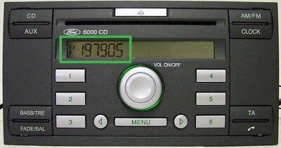Ford V series Radio Code , 10 min service ,focus, transit, fiesta, V serial 3
