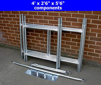 "DIY Scaffold Tower / Boards Option 3.5m (4' x 2'6"" x 11'6"" WH) Galvanised Steel"